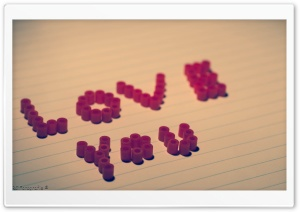 Love You HD Wide Wallpaper for Widescreen