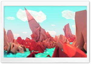 Low Poly Background Art HD Wide Wallpaper for 4K UHD Widescreen desktop & smartphone
