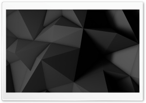 Low Poly Dark Black Background Ultra HD Wallpaper for 4K UHD Widescreen desktop, tablet & smartphone