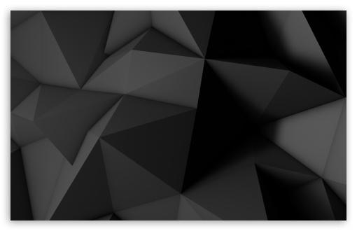 Low Poly Dark Black Background Ultra Hd Desktop Background