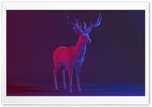 Low Poly Deer Ultra HD Wallpaper for 4K UHD Widescreen desktop, tablet & smartphone