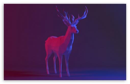 Download Low Poly Deer HD Wallpaper