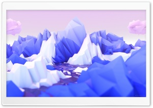 Low Poly Landscape Art HD Wide Wallpaper for 4K UHD Widescreen desktop & smartphone