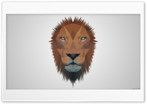 Low Poly Lion HD Wide Wallpaper for Widescreen