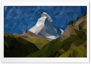 Low Poly Matterhorn HD Wide Wallpaper for Widescreen