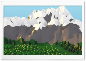 Low poly Mountain HD Wide Wallpaper for 4K UHD Widescreen desktop & smartphone