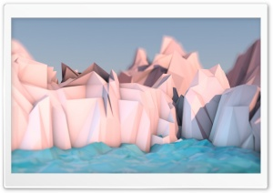 Low Poly Mountains by Momkay HD Wide Wallpaper for Widescreen