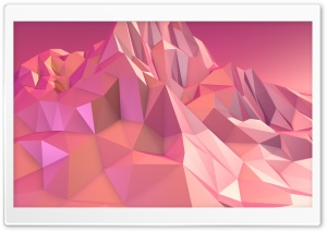 Low Poly Pink Mountain HD Wide Wallpaper for 4K UHD Widescreen desktop & smartphone