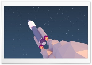 Low poly Rocket HD Wide Wallpaper for Widescreen