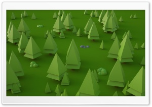 Low Poly Trees by Larix Studio HD Wide Wallpaper for 4K UHD Widescreen desktop & smartphone
