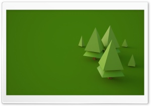 Low Poly Trees by Larix Studio HD Wide Wallpaper for Widescreen