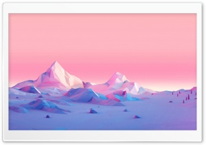 Lowpoly, Mountains, Landscape HD Wide Wallpaper for 4K UHD Widescreen desktop & smartphone