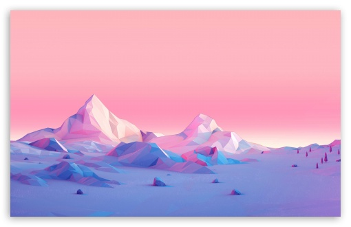 Download Lowpoly, Mountains, Landscape HD Wallpaper
