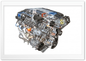 LS9 Supercharged Engine HD Wide Wallpaper for Widescreen