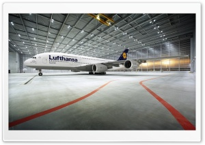 Lufthansa 380 800 Airbus HD Wide Wallpaper for 4K UHD Widescreen desktop & smartphone
