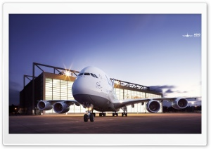 Lufthansa Airbus A380 HD Wide Wallpaper for Widescreen