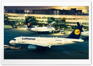 Lufthansa Airplanes HD Wide Wallpaper for Widescreen