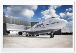 Lufthansa Airport HD Wide Wallpaper for Widescreen