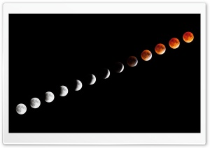 Lunar Eclipse HD Wide Wallpaper for Widescreen