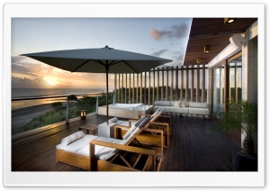Luxury Terrace HD Wide Wallpaper for Widescreen