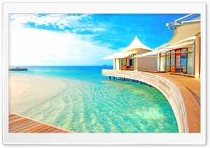 Luxury Water Bungalows HD Wide Wallpaper for 4K UHD Widescreen desktop & smartphone