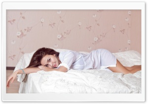 Lying In Bed HD Wide Wallpaper for Widescreen