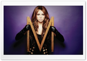 M from Miley Cyrus HD Wide Wallpaper for Widescreen