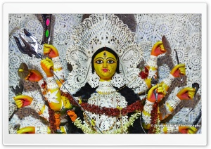 Maa Durga 2014 HD Wide Wallpaper for 4K UHD Widescreen desktop & smartphone