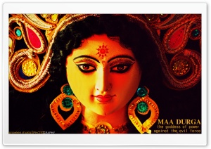 Maa Durga HD Wide Wallpaper for Widescreen
