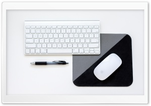 Mac Keyboard and Mouse HD Wide Wallpaper for Widescreen
