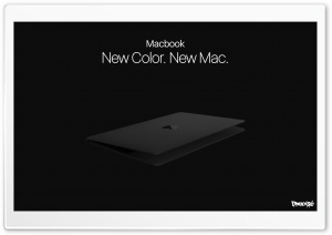 Macbook Black 2017 Concept HD Wide Wallpaper for Widescreen