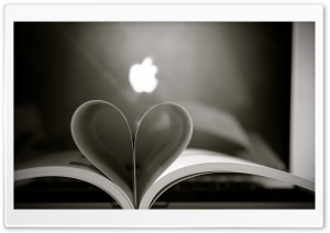 Macbook Heart HD Wide Wallpaper for Widescreen