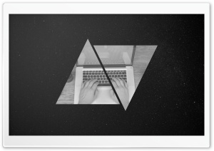 MacBook_Triangles HD Wide Wallpaper for Widescreen