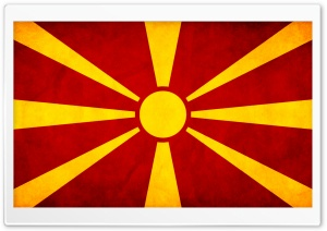Macedonian Flag HD Wide Wallpaper for Widescreen