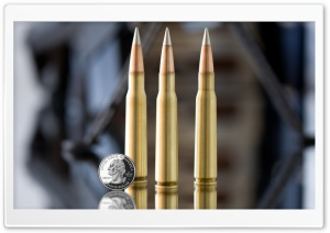 Machine Gun Bullets HD Wide Wallpaper for Widescreen