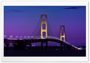 Mackinac Bridge Michigan HD Wide Wallpaper for Widescreen