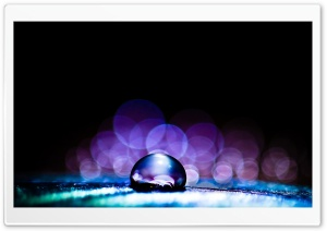 Macro Water Drop HD Wide Wallpaper for Widescreen
