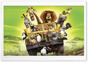 Madagascar 2 HD Wide Wallpaper for Widescreen