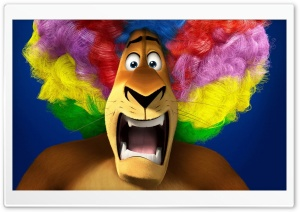 Madagascar 3   Alex's Rainbow Wig HD Wide Wallpaper for Widescreen