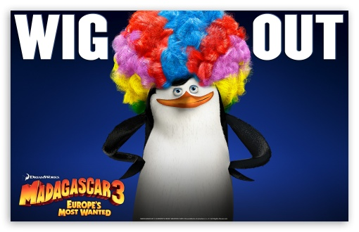Madagascar 3 Afro Penguin HD wallpaper for Wide 16:10 Widescreen WHXGA WQXGA WUXGA WXGA ;