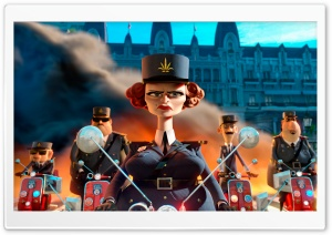 Madagascar 3 Captain Dubois HD Wide Wallpaper for Widescreen