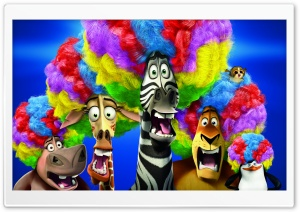 Madagascar 3 Europe's Most Wanted Circus Afro Ultra HD Wallpaper for 4K UHD Widescreen desktop, tablet & smartphone
