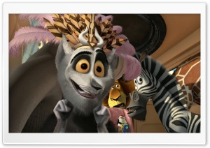 Madagascar 3 Europe's Most Wanted King Julien XIII HD Wide Wallpaper for Widescreen