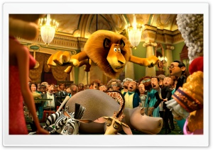 Madagascar 3 Monte Carlo Casino HD Wide Wallpaper for Widescreen
