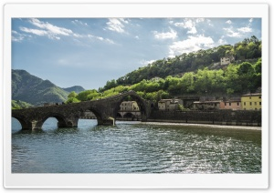 Maddalenas bridge Tuscany HD Wide Wallpaper for Widescreen