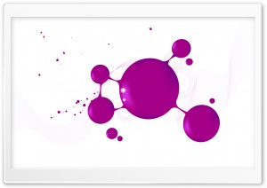 Magenta Ink Drops HD Wide Wallpaper for Widescreen