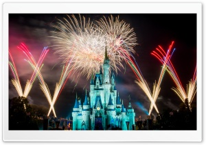 Magic Kingdom Fireworks Ultra HD Wallpaper for 4K UHD Widescreen desktop, tablet & smartphone