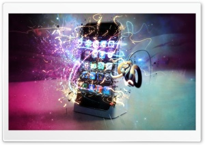 Magic Lighting Effect iPhone HD Wide Wallpaper for Widescreen