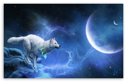 Magic White Wolf HD wallpaper for Wide 16:10 5:3 Widescreen WHXGA WQXGA WUXGA WXGA WGA ; HD 16:9 High Definition WQHD QWXGA 1080p 900p 720p QHD nHD ; Standard 3:2 Fullscreen DVGA HVGA HQVGA devices ( Apple PowerBook G4 iPhone 4 3G 3GS iPod Touch ) ; Mobile 5:3 3:2 16:9 - WGA DVGA HVGA HQVGA devices ( Apple PowerBook G4 iPhone 4 3G 3GS iPod Touch ) WQHD QWXGA 1080p 900p 720p QHD nHD ;