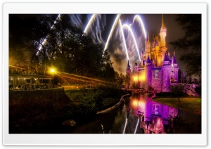 Magical Disney Fireworks Show HD Wide Wallpaper for 4K UHD Widescreen desktop & smartphone